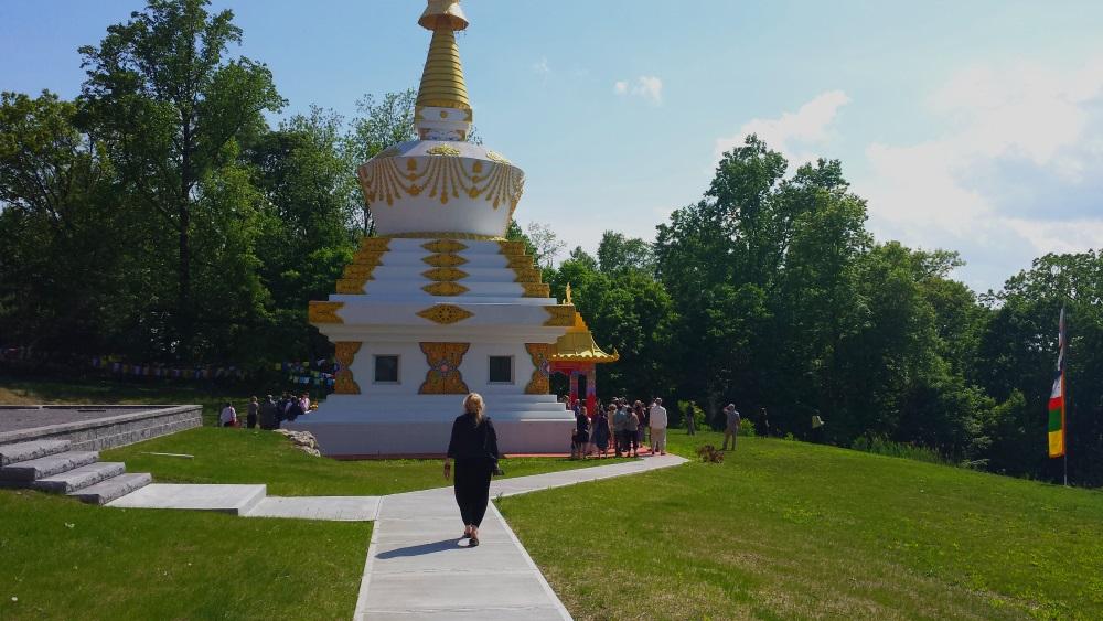 The Kagyu Thubten Chöling Monastery  Stupa