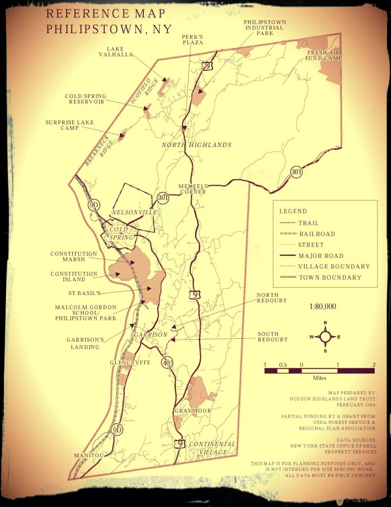 philipstown map framed
